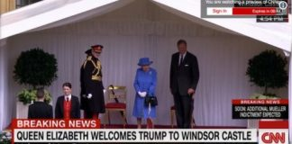 Queen Elizabeth Waiting for President Donald Trump Photo (C) GETTY