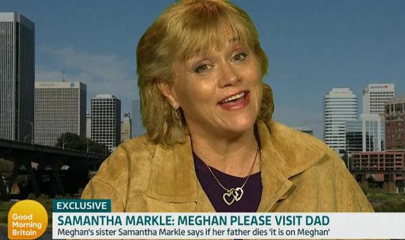 Samantha Markle talks to GMB yesterday (Image: ITV)