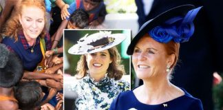 Sarah Ferguson Duchess of York's personal announcement before Eugenie wedding Photo (C) CHILDREN IN CRISIS/TWITTER/SARAHFERGUSON15/GETTY