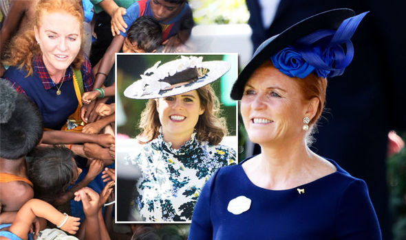 Sarah Ferguson Duchess of York's personal announcement before Eugenie wedding Photo (C) CHILDREN IN CRISIS/TWITTER/SARAHFERGUSON15/GETTY