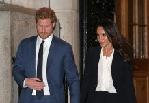 The Duchess dazzled in this chic Alexander McQueen pant suit back in February. Photo (C) GETTY