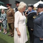 The Duchess of Cornwall meets Seargeant Kelly Griffith Photo (C) PA