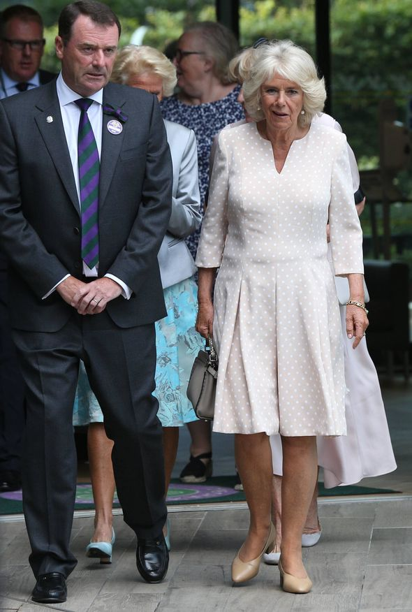 Camilla, Duchess of Cornwall, smiled as she arrived at Wimbledon today Photo (C) AP, RETUERS