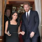 The Duchess of Sussex made her third outfit change of the day and donned a chic sleeveless dress for a summer garden party in Dublin. Photo Getty Images