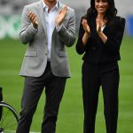 The Duchess of Sussex wore a pair of black stilletos out on a pitch at Croke Park in Dublin Photo (C) PA