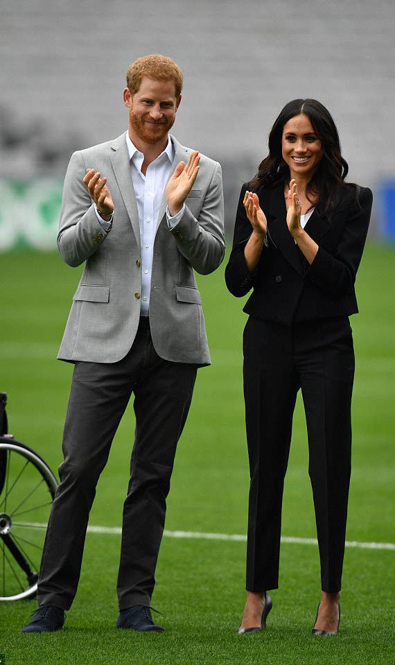 Meghan Markle is often seen wearing high heels in royal engagements with her husband, Prince Harry Photo (C) GETTY