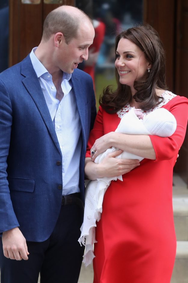 Prince William and Kate Middleton now have a newborn baby on their hands [Getty]