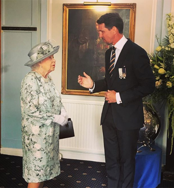 Prince Pavlos of Greece reunites with the Queen and shares rare personal picture of encounter Photo (C) INSTAGRAM
