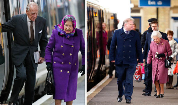 The Queen prefers travelling aboard the old Govia Thameslink Railway trains, it was revealed Photo (C) GETTY