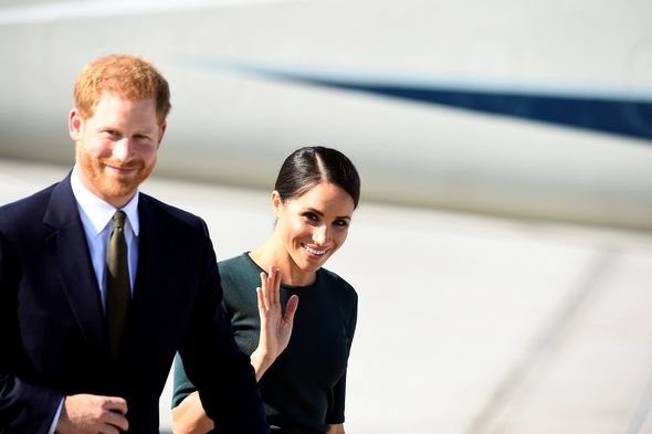 The Royal couple gives a wave to the the crowd