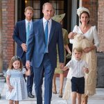 The christening marked the Cambridge family's first public appearance all together since Louis' arrival Photo (C) GETTY