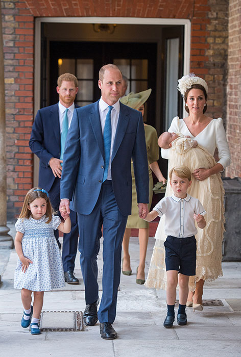 Prince Louis' personality is revealed by Duchess Kate during his christening Photo (C) GETTY