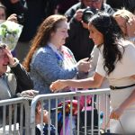 The clip was filmed when Meghan visited Cheshire last month with the Queen Photo (C) GETTY IMAGES