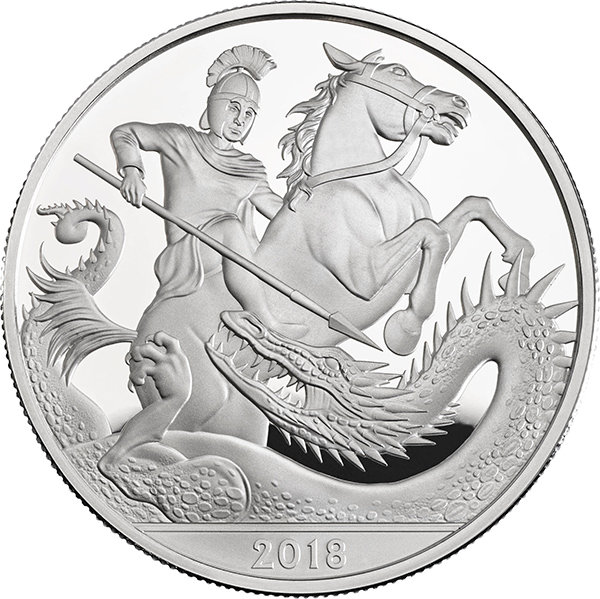 The coin features the legend of St George and the Dragon Photo (C) PA