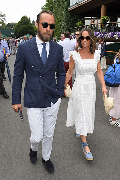 The columnist attended Wimbledon with brother James Middleton Photo (C) GETTY