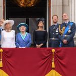 The rest of the royal family watched from the balcony (Image REX Shutterstock)