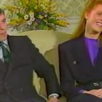 The Duchess of York made a joke about the couple splitting ten years before they divorced in 1996 (Image ITN)