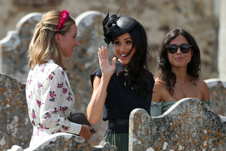 Meghan Markle and Prince Harry are back on the wedding circuit again today Photo (C) GETTY IMAGESYUI MOK - PA IMAGES