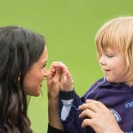 Meghan is already a natural with kids (Image GETTY)