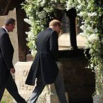 10 Prince Harry took on best man duties and arrived with the groom at the church before the ceremony Photo (C) PA