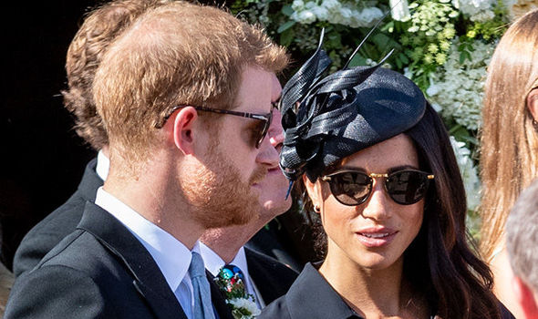 Prince Harry and Meghan Markle at the wedding of Charlie van Straubenzee (Image GETTY)