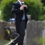 8 Prince Harry took on best man duties and arrived with the groom at the church before the ceremony Photo (C) PA