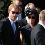 9 Prince Harry took on best man duties and arrived with the groom at the church before the ceremony Photo (C) PA