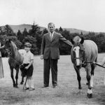 A young Prince Charles and Anne are seen with ponies in 1955 (Image GETTY IMAGES)