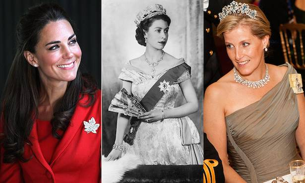 All the times Kate Middleton and Other Members of the Royal Family Have Borrowed the Queen's Jewellery Photo (C) GETTY