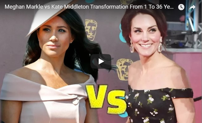Catherine Duchess vs Meghan Markle Transformation From 1 To 36 Years Old