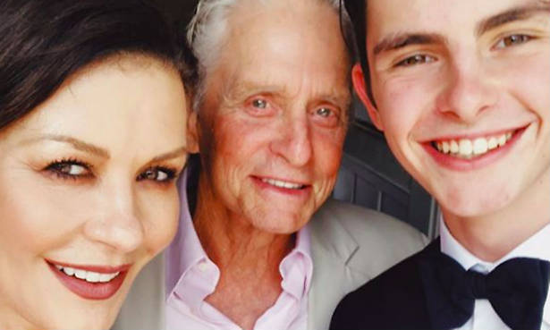 Catherine Zeta Jones' son Dylan had a message for the British royal family Photo (C) GETTY