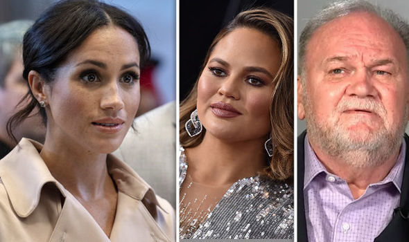 Chrissy Teigen has blasted Meghan's father Thomas Markle on Saturday, claiming that the (Image Getty, Reuters)