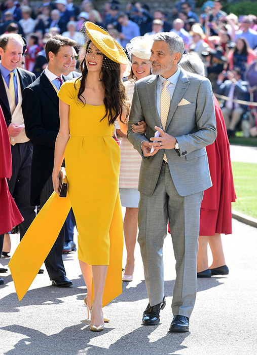 George And Amal Clooney Were Guests At Prince Harry And Meghan S Wedding Photo C Getty Dianalegacy Latest Update News Images Videos Of British Royal Family