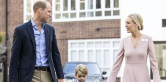 George looked nervous last year when he attended his first day of school (Image GETTY)