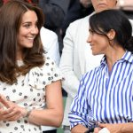 Kate Middleton and Meghan Markle at Wimbledon 2018 (Image GETTY)
