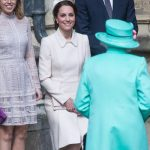 Kate Middleton performs an elegant curtsey to the Queen, as she attends an Easter Day Service (Image GETTY)