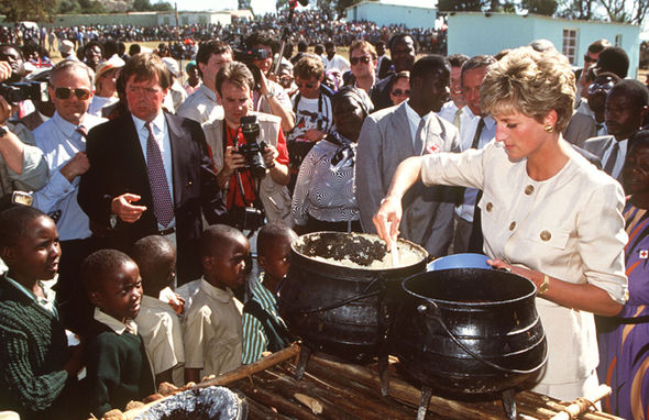 Princess Diana is surrounded by crowds during her first visit to Royal Ascot (Image Getty Images)
