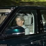 Lady Louise Windsor, 14, who enjoys a close relationship with her grandmother the Queen, joined her parents Prince Edward and the Countess of Wessex as they travelled home