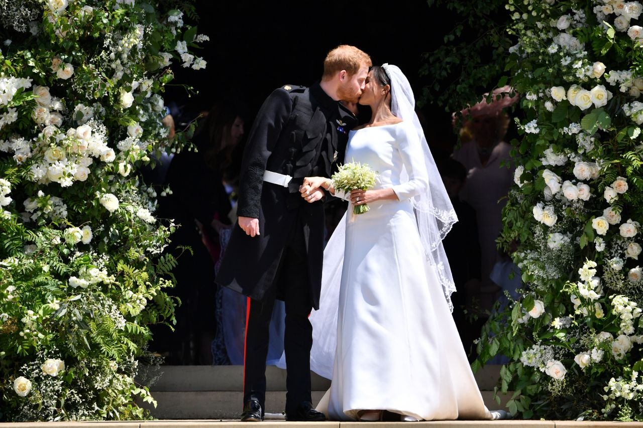 Meghan's family were not invited to her wedding to Prince Harry, pictured, except her mum Doria. Source Getty