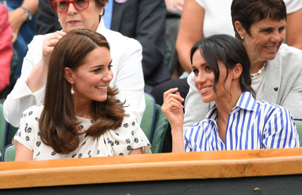 Meghan Markle attended the Ladies' Singles Final at Wimbledon to watch her friend Serena Williams (Image GETTY)
