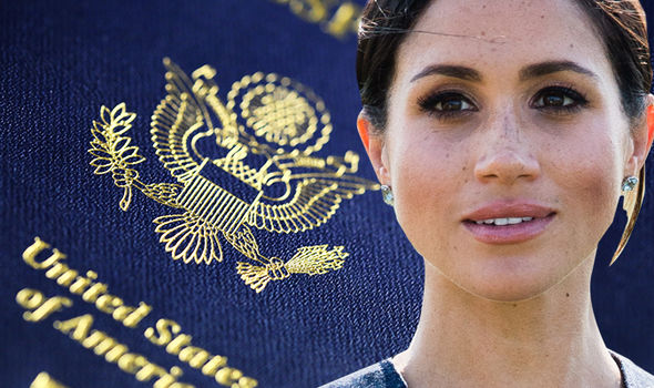 Meghan Markle has not yet given up her US citizenship – and may not do so (Image GETTY)