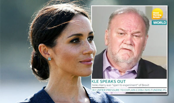 Meghan Markle latest news Dad Thomas sparks 'increasingly desperate ­situation' at the palace (Image GETTY ITV GOOD MORNING BRITAIN)