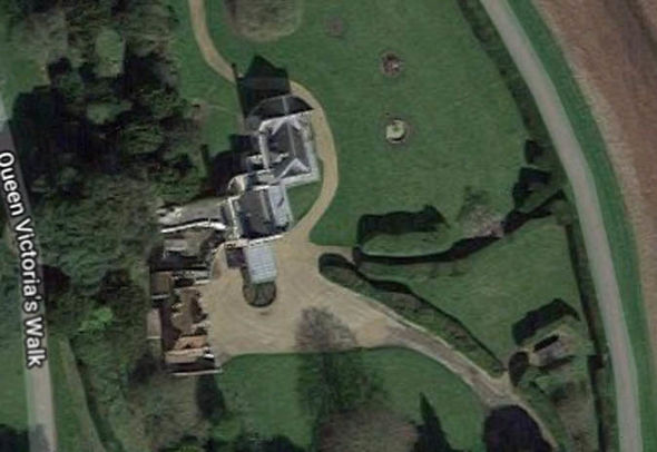 Meghan Markle news Adelaide Cottage is located near Windsor Castle, at the red marker (Image Google Maps)