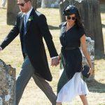 Meghan spent her birthday with Prince Harry at his best friend, Charlie van Straubenzee's wedding (Image GETTY)