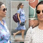 Pippa was spotted in London yesterday showing off her growing baby bump (Image MEGA Getty Images)