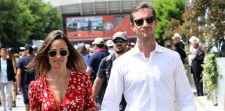 Pregnant Pippa Middleton makes rare public appearance as she attends brother-in-law Spencer Matthews Photo (C) GETTY