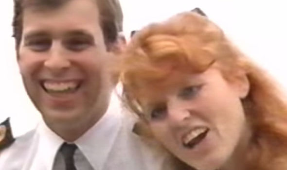 Prince Andrew and Fergie are clearly very close at the time of the video (Image YouTube )