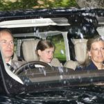 Prince Edward, wife Sophie Countess of Wessex and daughter Lady Louise Windsor also attended church (Image REX)
