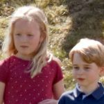 Prince George has the sweetest cuddly toy as he is reunited with cousin Savannah Phillips Photo (C) GETTY