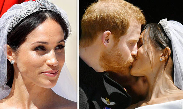Prince Harry loved the make-up style adopted by Meghan Markle on her wedding day (Image GETTY)